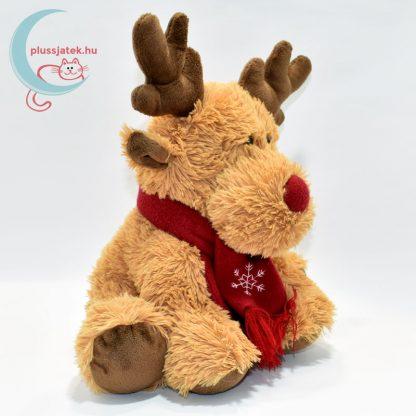 Vörös orrú, sálas plüss Rudolf szarvas jobbról