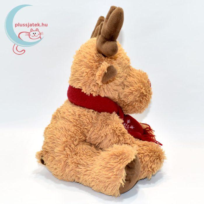Vörös orrú, sálas plüss Rudolf szarvas oldalról