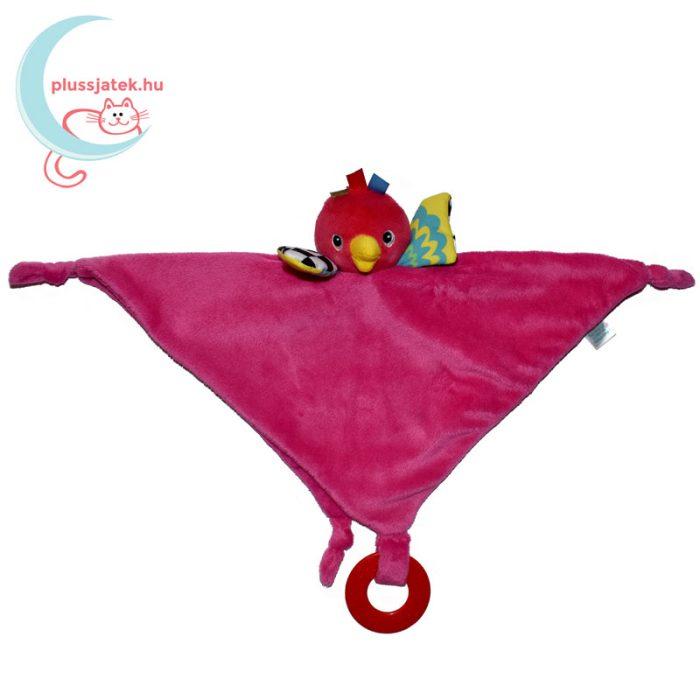 Carousel rózsaszín papagáj szundikendő háromszögbe hajtva
