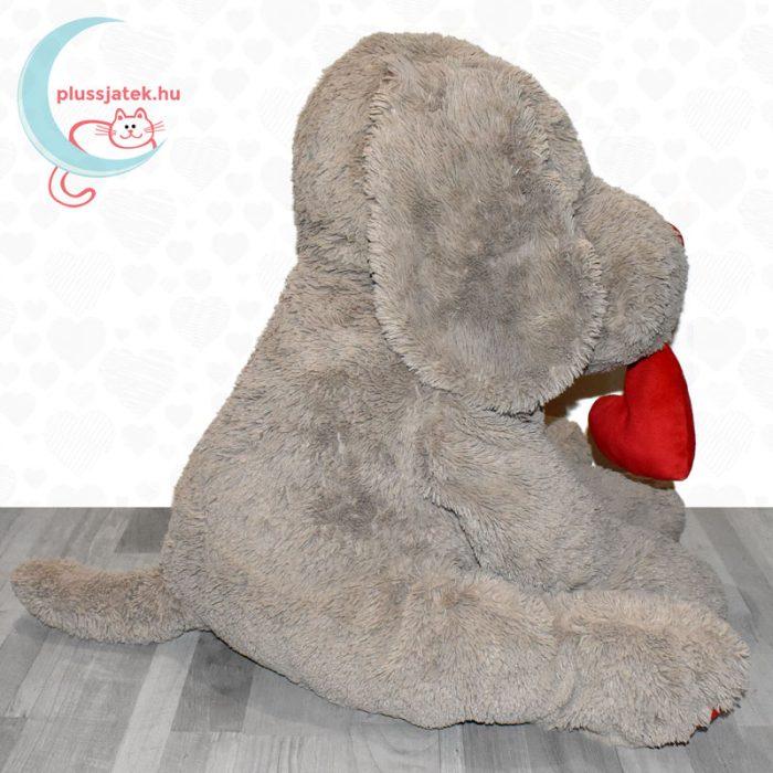 Hatalmas, 80 cm-es szerelmes plüss kutya oldalról