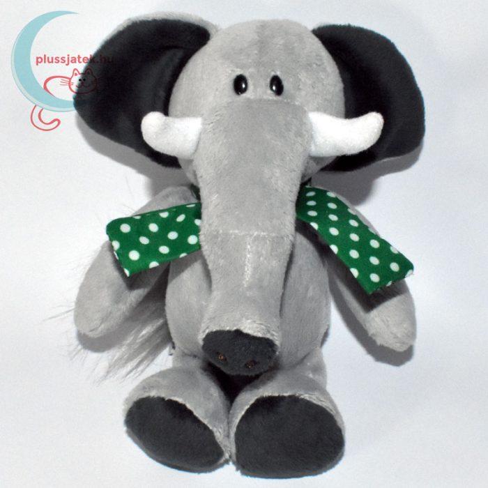 Kinder plüss elefánt zöld pöttyös kendővel