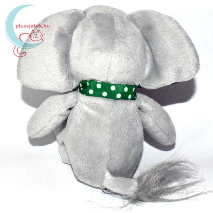 Kinder plüss elefánt zöld pöttyös kendővel hátulról