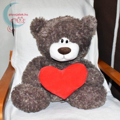 Love & Cuddles hatalmas, 65 cm-es szerelmes plüss maci székben ülve