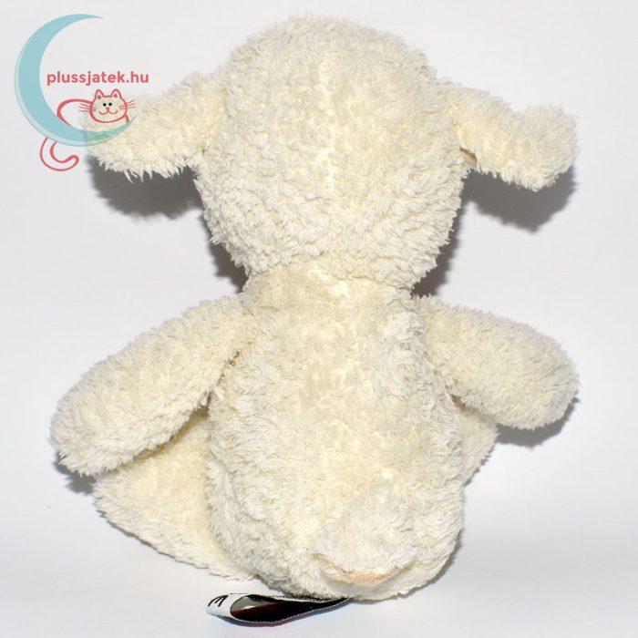 Kinder plüss bárány - fehér, bolyhos szőrű hátulról