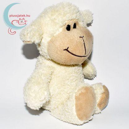 Kinder plüss bárány - fehér, bolyhos szőrű jobbról