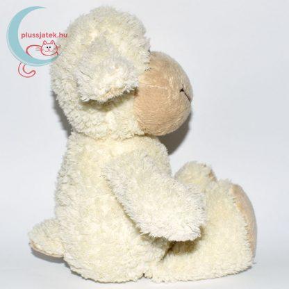Kinder plüss bárány - fehér, bolyhos szőrű oldalról