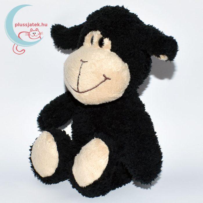 Kinder plüss bárány - fekete, bolyhos szőrű balról