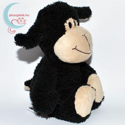 Kinder plüss bárány - fekete, bolyhos szőrű jobbról