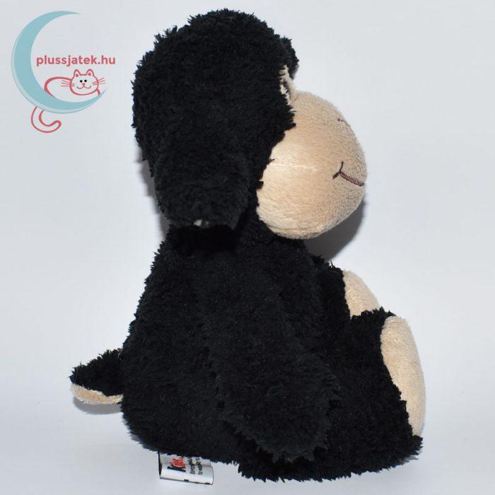 Kinder plüss bárány - fekete, bolyhos szőrű oldalról