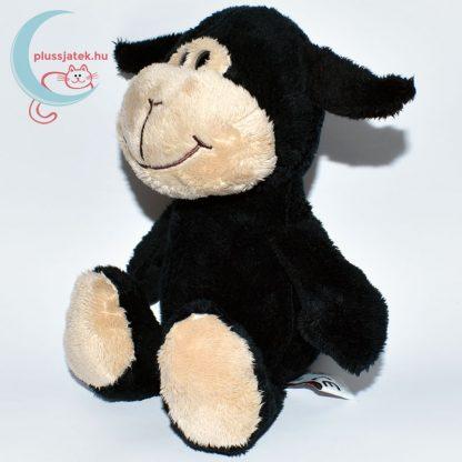 Kinder plüss bárány - fekete, sima szőrű balról