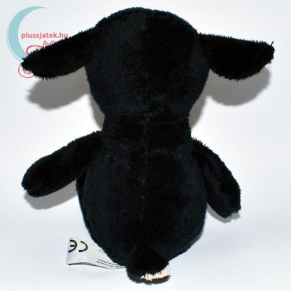 Kinder plüss bárány - fekete, sima szőrű hátulról
