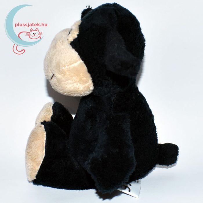 Kinder plüss bárány - fekete, sima szőrű oldalról