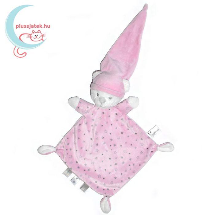 Nicotoy sok csillagos maci szundikendő - rózsaszín