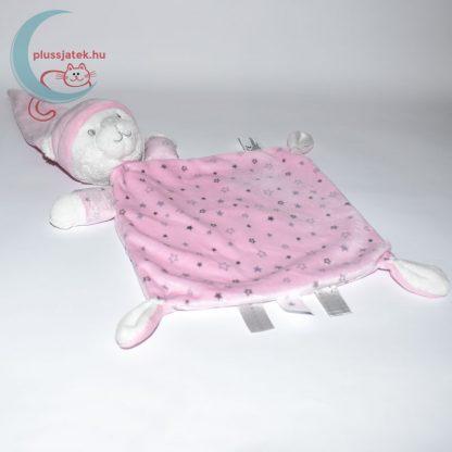 Nicotoy sok csillagos maci szundikendő - rózsaszín, közelről