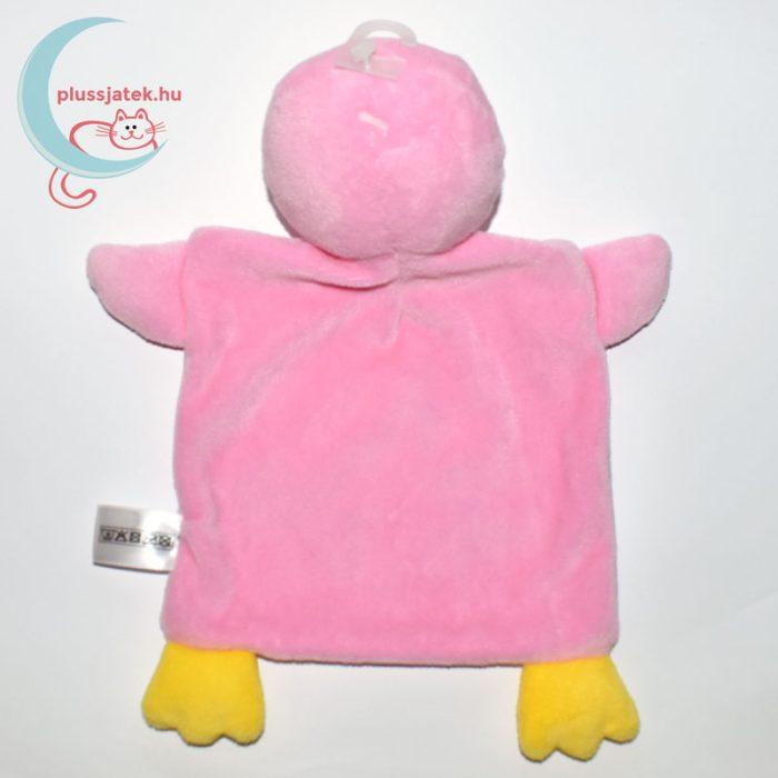 Nicotoy hal mintás pingvin szundikendő - rózsaszín, hátulról