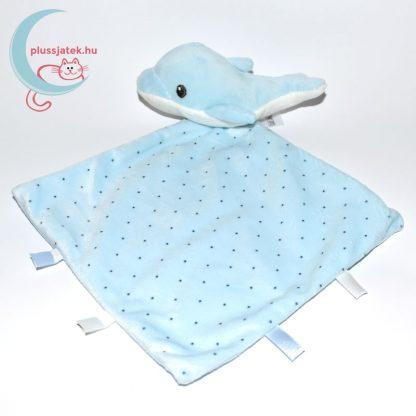 Nicotoy pöttyös szundikendő, delfin plüssfigurával - kék