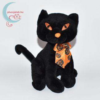 Halloweeni fekete plüss cica