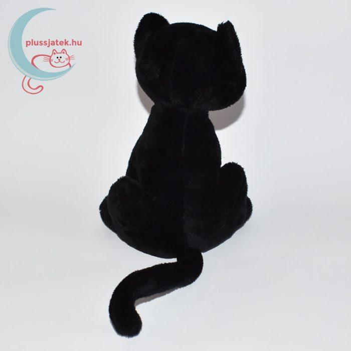 Halloweeni fekete plüss cica hátulról