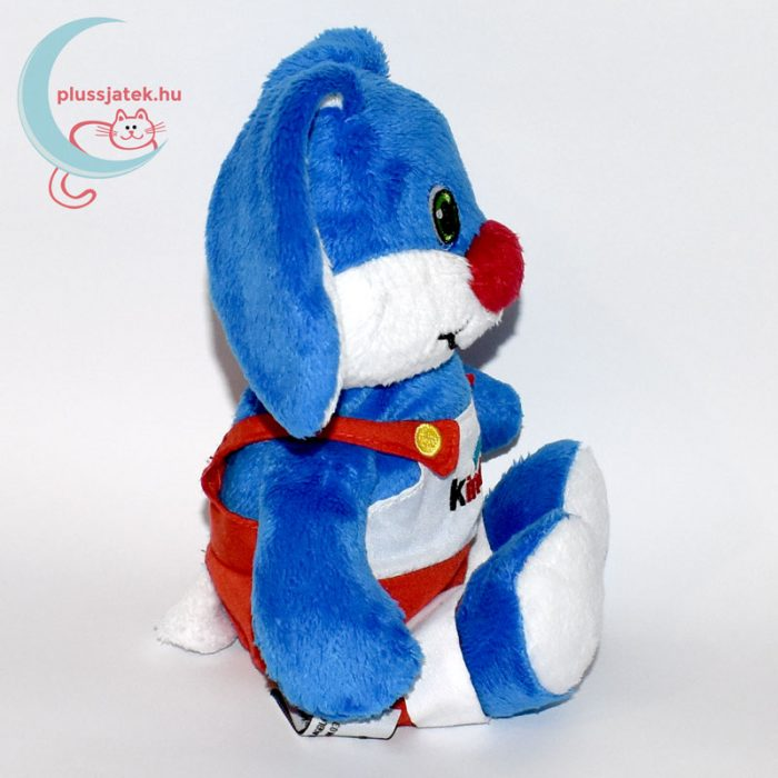 Kinder kék plüss nyúl oldalról