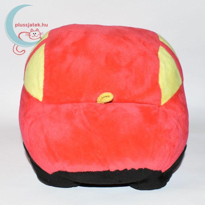 Piros színű plüss autó hátulról