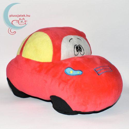 Piros színű plüss autó jobbról