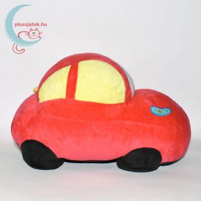 Piros színű plüss autó oldalról