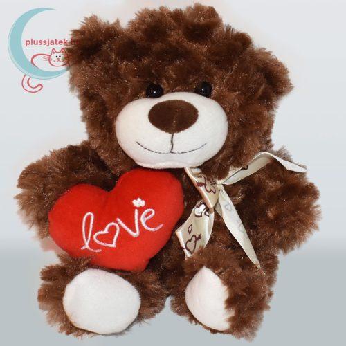 Nagyon-nagyon szerelmes plüss maci szívvel - barna