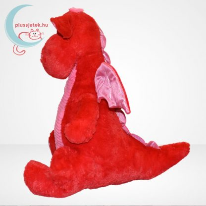 Óriás vörös sárkány plüss oldalról
