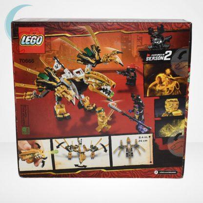 Lego Ninjago - Az aranysárkány (The Golden Dragon) - 70666 hátulról
