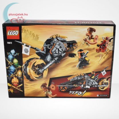 Lego Ninjago - Cole cross motorja (Cole's Dirt Bike) - 70672, hátulról