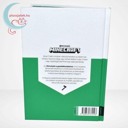 Minecraft - Útmutató a gazdálkodáshoz (zöld könyv), hátulról