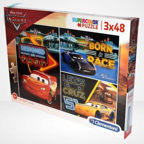 Verdák 3 (Cars) 3x48 db-os Clementoni puzzle (Disney kirakó) balról