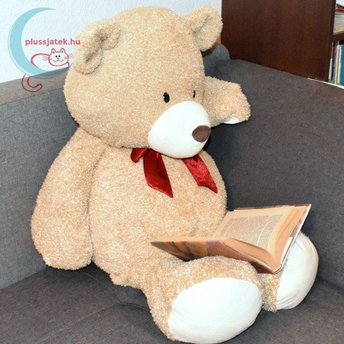 With Love óriás, 95 cm nagy Valentin napi plüss maci könyvet olvas