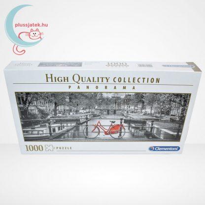 Amsterdam piros biciklivel Panorama puzzle - 1000 db-os Clementoni (39440)
