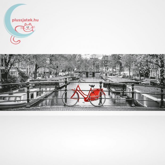Amsterdam piros biciklivel Panorama puzzle - 1000 db-os Clementoni (39440), a kép