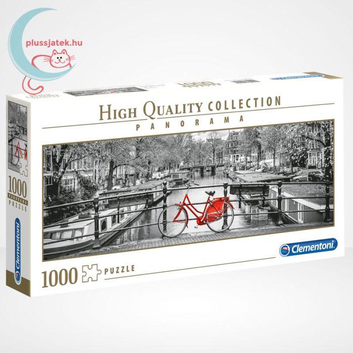Amsterdam piros biciklivel Panorama puzzle - 1000 db-os Clementoni (39440), jobbról