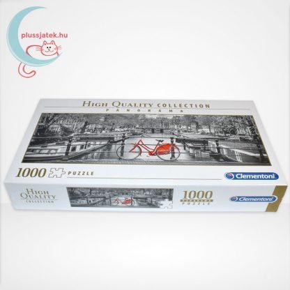 Amsterdam piros biciklivel Panorama puzzle - 1000 db-os Clementoni (39440), oldalról