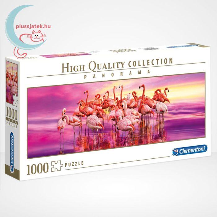 Flamingók tánca Panorama puzzle - 1000 db-os Clementoni (39427)