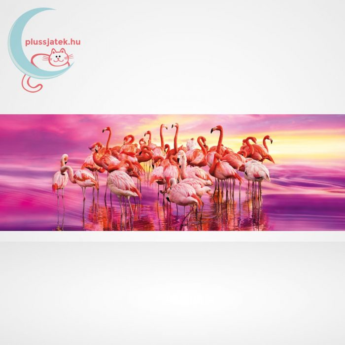 Flamingók tánca Panorama puzzle - 1000 db-os Clementoni (39427), A kép