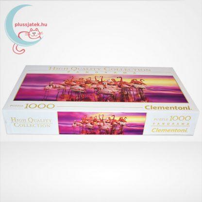 Flamingók tánca Panorama puzzle - 1000 db-os Clementoni (39427), oldalról