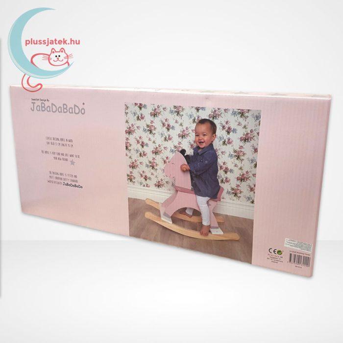 Jabadabado Fa hintaló - pasztell rózsaszín, csomagolás