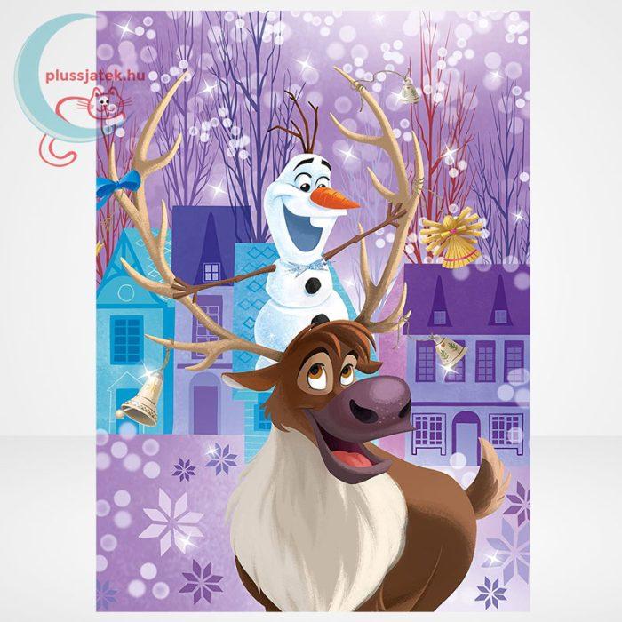 Jégvarázs: Olaf kalandjai 3 az 1-ben 3x48 darabos (144 db) Clementoni puzzle szemből, 1. kép