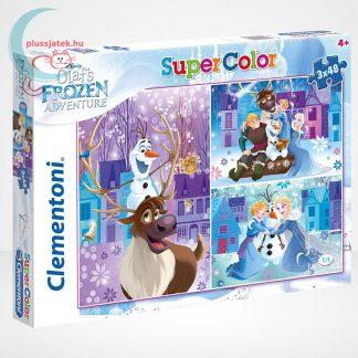 Jégvarázs: Olaf kalandjai 3 az 1-ben 3x48 darabos (144 db) Clementoni puzzle