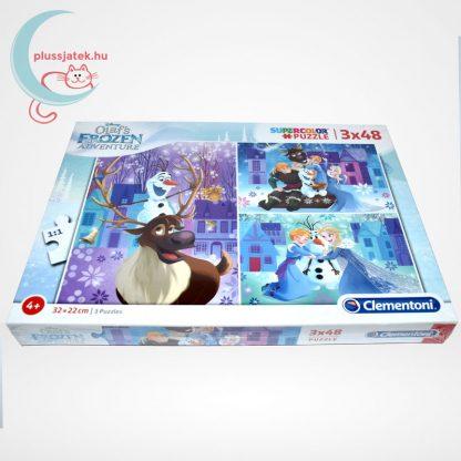 Jégvarázs: Olaf kalandjai 3 az 1-ben 3x48 darabos (144 db) Clementoni puzzle oldalról