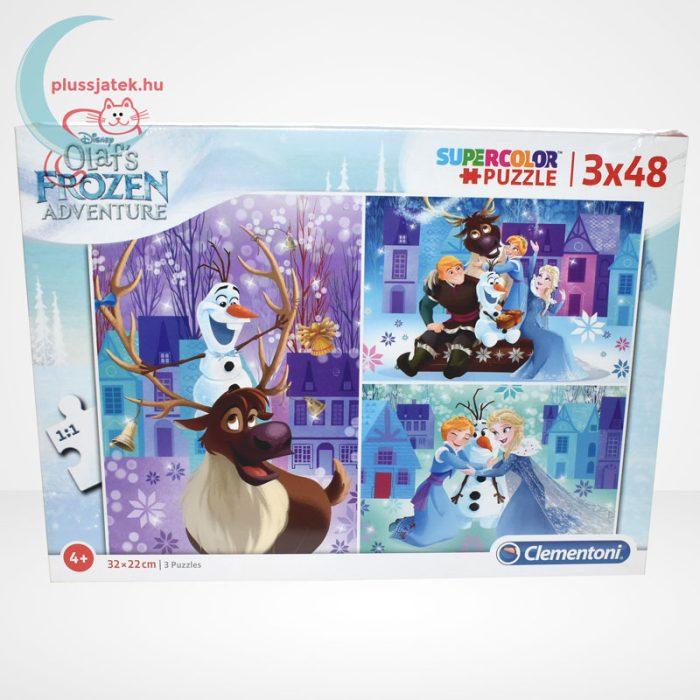 Jégvarázs: Olaf kalandjai 3 az 1-ben 3x48 darabos (144 db) Clementoni puzzle szemből