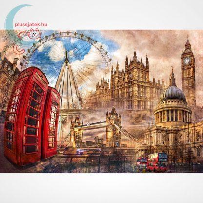Londoni nosztalgia (Vintage London - 31807) 1500 db-os puzzle, Clementoni, a kép
