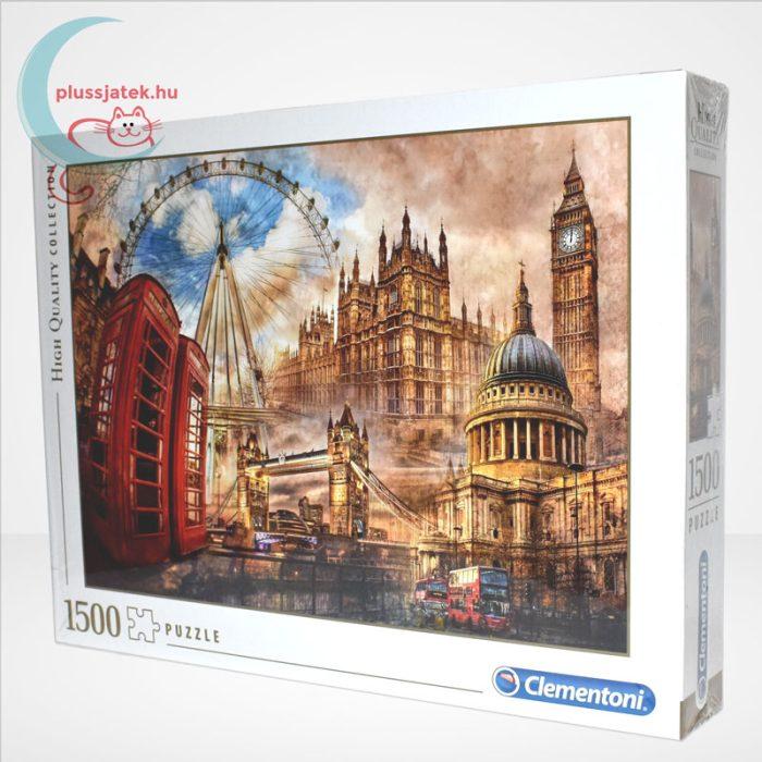 Londoni nosztalgia (Vintage London - 31807) 1500 db-os puzzle, Clementoni, balról