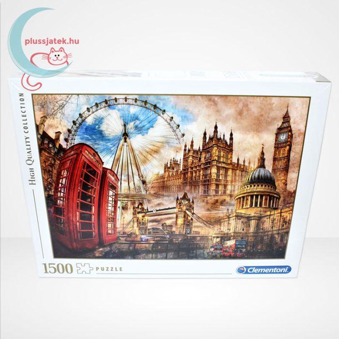 Londoni nosztalgia (Vintage London - 31807) 1500 db-os puzzle, Clementoni, szemből
