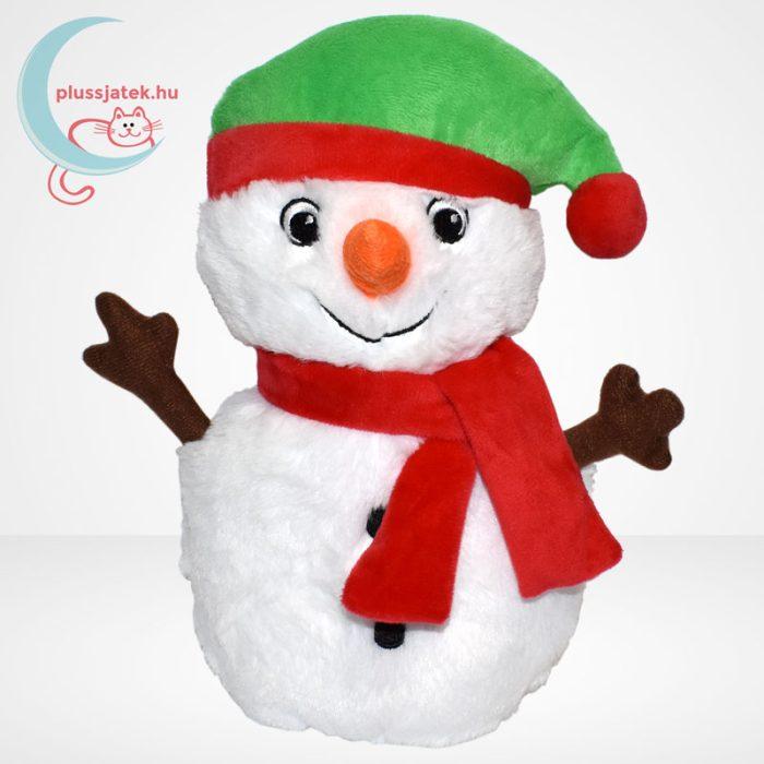 Zenélő plüss karácsonyi hóember