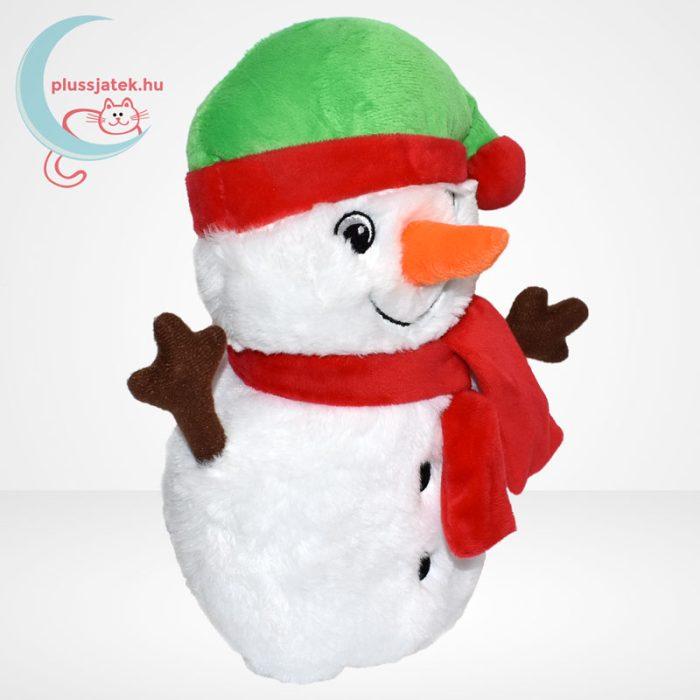 Zenélő plüss karácsonyi hóember, jobbról